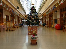 施設紹介 オープンスペース クリスマスツリー出現